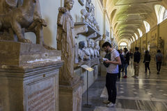 Tourists in Vatican Museum in Italy Royalty Free Stock Photo