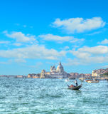 Tourists in Venice on a cloudy day. Hdr tone mapping effect. Stock Photos