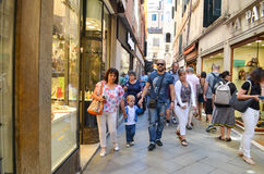 Tourists in Venice,Italy Stock Images