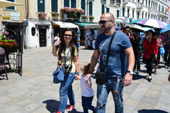 Tourists in Venice,Italy Stock Image
