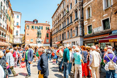 Tourists in Venice Stock Images