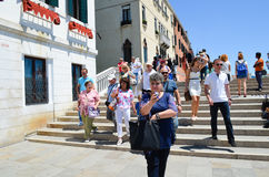 Tourists in Venice,Italy Royalty Free Stock Photos