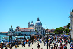 Tourists in Venice,Italy. Tourists     in  Venice,Italy near the  sea Royalty Free Stock Image