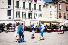 Tourists in Venice, Italy Royalty Free Stock Photography