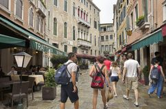 Tourists in Venice Royalty Free Stock Photography
