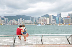 Tourists at Victoria Habor Stock Image