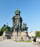 Tourists in Vienna stock image