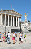 Tourists in Vienna Stock Images