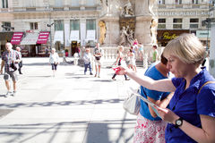 Tourists in Vienna Royalty Free Stock Image