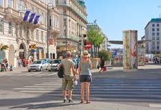 Tourists.Vienna. Austria Fotografía de archivo libre de regalías