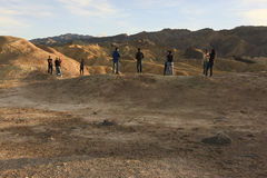 Tourists View Zabriskie Point Stock Images