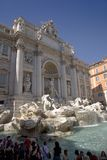 Tourists viewing Fontana di Trevi located in Piazza de Trevi in Rome, Italy Stock Photo