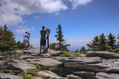 Tourists Viewing Scenery Grandfather Mountain North Carolina Royalty Free Stock Photo
