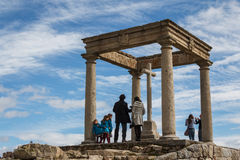 Tourists on the viewpoint of Avila Royalty Free Stock Photos