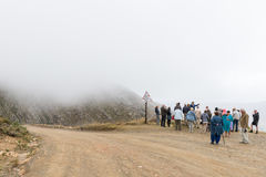 Tourists at a viewpoint on the historic Swartberg Pass Stock Photo