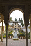 Tourists visit Alhambra Royalty Free Stock Photo