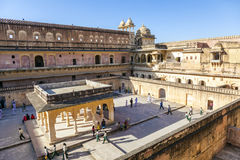Tourists visit Amber Fort royalty free stock photography