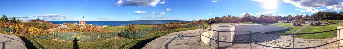 Tourists visit beautiful coast of Portland, Maine Royalty Free Stock Image