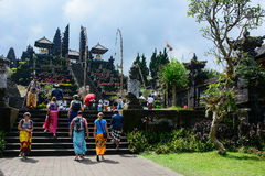 Tourists visit Besakih Temple, Bali, Indonesia Stock Image