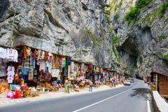 Tourists visit the Bicaz Canyon Royalty Free Stock Image