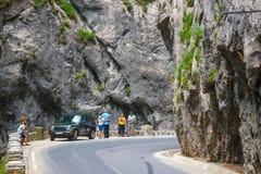 Tourists visit the Bicaz Canyon Stock Image