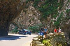 Tourists visit the Bicaz Canyon Royalty Free Stock Photos