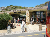 Tourists visit Cape Point, South Africa. Stock Image