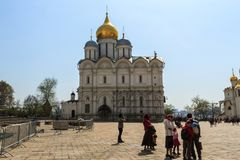 Tourists visit The Cathedral of the Archangel is the largest chu Royalty Free Stock Photography