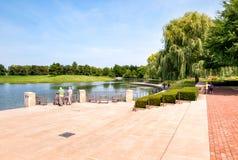 Tourists visit Chicago Botanic Garden, USA Stock Images