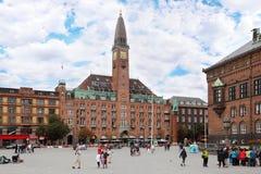 Tourists visit City Hall Square Stock Photos