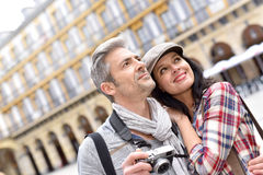 Tourists on visit day Royalty Free Stock Images