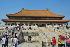 Tourists visit the Forbidden City Stock Photos