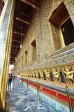 Tourists visit the Grand Palace in Bangkok, Thailand Stock Photos