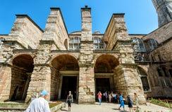 Tourists visit the Hagia Sophia (Ayasofya), Istanbul, Turkey. ISTANBUL - MAY 26, 2013: Tourists visit the Hagia Sophia (Ayasofya). Church of Hagia Sophia is the stock images