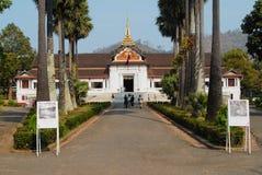 Tourists visit Haw Kham Royal Palace in Luang Prabang, Laos. Royalty Free Stock Photo