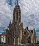 Tourists visit the historic St. Matthias Church Royalty Free Stock Photos