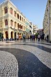 Tourists visit historical buildings surround the Leal Senado Squ Royalty Free Stock Images