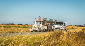 Tourists visit the island of Noirmoutier in France Stock Image