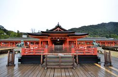 Tourists visit Itsukushima shrine in Miyajima, Japan Stock Images