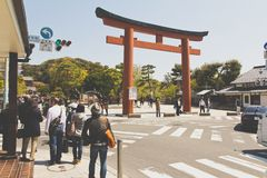 Tourists visit Kamakura Temple Stock Photos