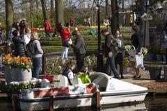Tourists visit the Keukenhof Stock Images