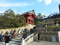 Tourists visit Koyomizu temple Royalty Free Stock Photo