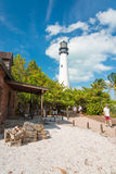 Tourists visit the lighthouse at Key Biscayne Stock Photography