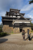 Tourists visit Matsue samurai feudal castle in Shimane prefectur Royalty Free Stock Image