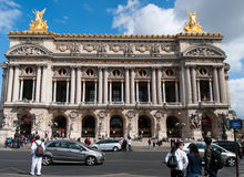 Tourists visit the Opera Garnier Stock Photos