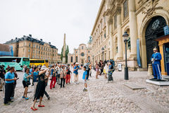 Tourists visit and photograph the guard of honor Royalty Free Stock Photography