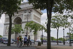 Tourists visit the Place Charles de Gaulle Royalty Free Stock Image