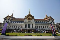 Tourists visit Royal Grand Palace Royalty Free Stock Photo