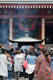 Tourists visit Senso-ji Temple. TOKYO- NOVEMBER 12: Tourists visit Senso-ji Temple on November 12, 2015 in Tokyo,Japan.The Senso-ji Buddhist Temple is the symbol Stock Photography