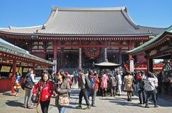Tourists visit Sensoji temple Stock Photography